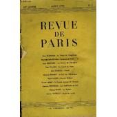 Revue De Paris 52e Annee N�5 - Jules Romains : Le Temps De L'inqui�tude Somerset Maugham : Vacances De No�l. � I Jean Rostand : La Chimie De L'h�r�dit� Paul Eluard : Le Travail Du Po�te ...