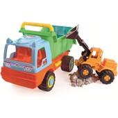 Camion Benne Et Pelleteuse
