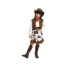 D�guisement Fille Cow-Boy Blanc Et Marron