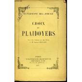 Choix De Plaidoyers - Avec Une Preface Et Des Notes De M. Charles Lyon-Caen. de alexandre millerand