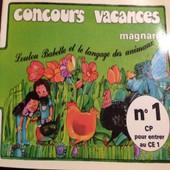 Concours Vacances Magnard N�1 Cp Pour Entrer Au Ce1 de MAGNARD