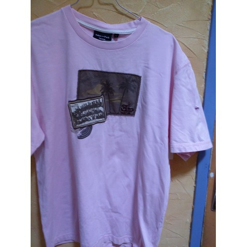 T shirt homme <strong>ralph</strong> <strong>lauren</strong> coton taille l rose clair