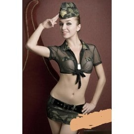 Costume Sexy Militaire - Costume Sexy Arm�e 3 Piece Sexy Sanselle Unique Vert