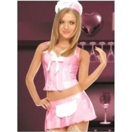 Costume Serveuse Soubrette Sexy Complet
