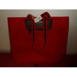 Besace Lancel Square Tote (Shopping Carre) Tissu Rouge