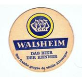 Sous Bock : Walsheim Das Bier Der Kenner Avec Impression Au Verso.