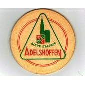 Sous Bock : Adelshoffen Bi�re D'alsace. Double �paisseur