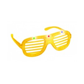 Lunette Lumineuse Striped Ray�es Led Jaune - Id�al Soir�es