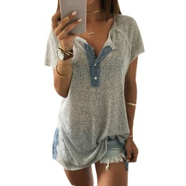Vktech� 2016 Femme Sexy T-Shirt Casual Col V Blouse Manches Courtes Style Cor�en Confortable