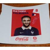 Panini Foot Uefa Euro France 2016 (Sticker Coca Cola) Mathieu Valbuena