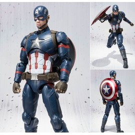 Captain America: Civil War - Action Figure Captain America - Sh Figuarts Collection