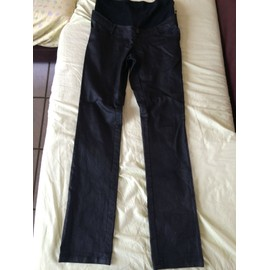 Pantalon 36 Noir Brillant