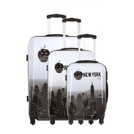Travel One Set De 3 Valises - Barry - Taille S+M+L - Syst�me 360 + Roues Silencieuses - Ultra Light - Grande Contenance