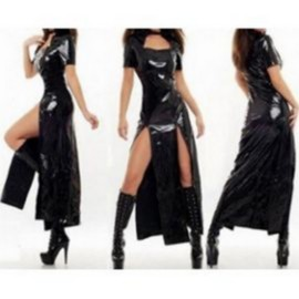 Robe Sexy G�n�rique Vinyle 40 Noir