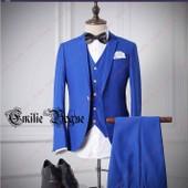 Costume Homme Pour C�r�monie/Soir�e/Mariage 3 Pi�ces Ensemble Pantaton Avec Veste Gilet Et Pantalons Ferm� Avec Un Bouton Emilie Mariage