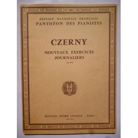 Czerny - Nouveaux exercices journaliers - Op 848 - Edition Nationale Française - Panthéon des Pianistes - n° 1050