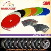 Nouveau - Rimblades Avec 3m Colle - Couleur: Violet - Premium Protection Des Jantes Et Styling Pour Jantes Alliage, Jusqu'� 22''