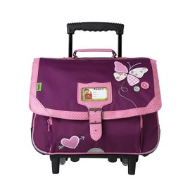 Cartable � Roulettes Tann's Edition Limit�e Collector Butterfly 38cm Prune