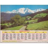 Almanach Des Ptt 1986,Loire,Mt Blanc,Chalet Fleuri