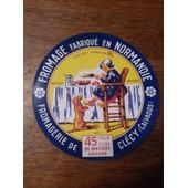 Etiquette De Fromage Clecy Calvados Normandie