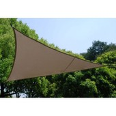 Voile D'ombrage Triangulaire - Taupe - Toile Solaire 4 X 4 X 4 M