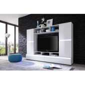 Meuble Tv Mural Blanc Brillant � Led Polo 1