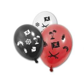8 Ballons Rouges, Blancs Et Noirs Pirate - 154141 - Taille Unique - Port 0�