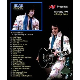 elvis presley february 1974 closing show cd pict.disc digipack + mini poster ! las vegas 9/2/74 CS