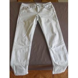 Pantalon La Halle Coton 42 Bleu Ciel