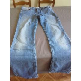 Pantalon La Halle Coton 42 Bleu