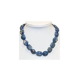 Collier En Pierre Naturelle Lapis Lazuli Gros Motifs 42cm Code Claxxl