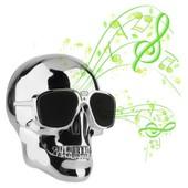 Enceinte Bluetooth Boom-Skull St�r�o Coloris Silver Son 2.1