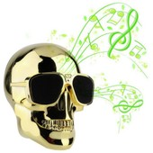 Enceinte Bluetooth Boom-Skull St�r�o Coloris Gold Son 2.1