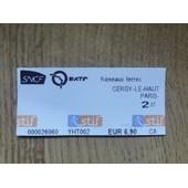 Ticket Neuf Cergy-Le-Haut Vers Paris