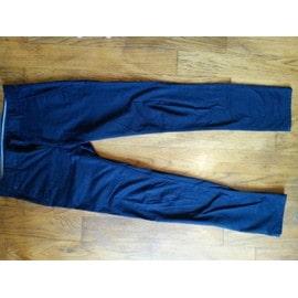 Pantalon Zara Basic Collection Coton 38 Bleu