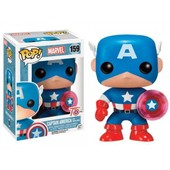 Figurine Marvel - Captain America 75th Anniv Bouclier Photon Exclu Pop 10cm