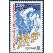 France 2000, Tr�s Bel Exemplaire Yvert 3331, 50�me Anniversaire De La Conqu�te De L'annapurna,