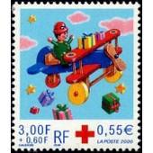 France 2000, Tr�s Bel Exemplaire Yvert 3362, Au Profit De La Croix Rouge, Pilote Et Avion En Bois, Neuf** Luxe