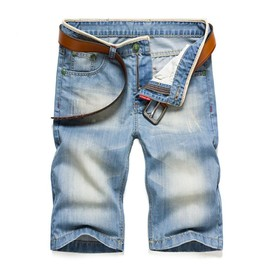 Shorts En Jean Hommes Casual Shorts Style Droit D'��T�� Mode V��tement Grand Taille