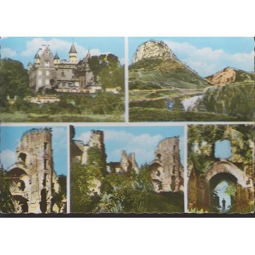 Carte postale de lagarde et de ses environs ariège 5 vues château des ducs de <strong>levis</strong> de mirepoix séran château de montségur ruines du château de lagarde