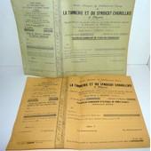 71 Digoin Action De 1000 Francs Et Part De Fondateur De La Tannerie 1934/36