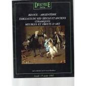 Deauville Auction -Bijoux, Argenterie, Tableaux Du Xix� Si�cle Et Anciens, C�ramiques, Meubles Et Objets D'arts. Vente Aux Ench�res De Deauville (17 Aout 1995)