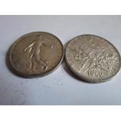 Pi�ce De 5 Francs En Argent . Semeuse Cam�e Avec Sol.
