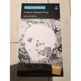 RADIOHEAD A MOON SHAPED POOL PLV FNAC CARTON RIGIDE 2016