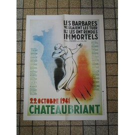 Affiche Reproduction Chateaubriant 1941 Seconde Guerre Mondiale 48.5 X 32 Cm