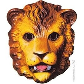 4 Masques Lion Enfant Pvc 3d - 25 X 18 Cm