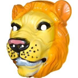 4 Masques Lion Pvc Adulte 3d - 25 X 25 Cm