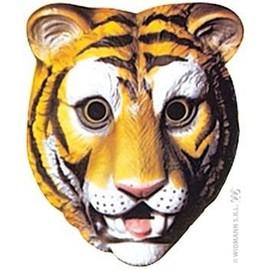 4 Masques Tigre Pvc Mixte 3d - 22 X 18 Cm