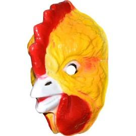 4 Masques Poule Pvc Imprim� 3d - 25 X 16 Cm