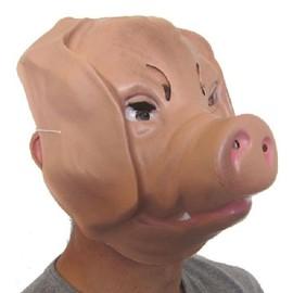 4 Masques De Cochon Adulte Pvc 3d - 27 X 23 Cm